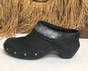 Merrell Women's Luxe Wrap GREEN Nubuck Mule Clogs Size US 6