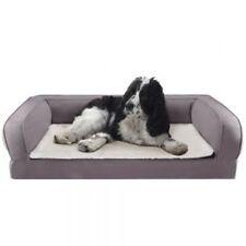 Dog Bed Orthopaedic Sofa Sleep Relaxing Comfort Memory Foam Washable L90cm Grey
