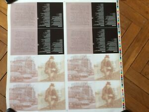 BRUCE SPRINGSTEEN uncut sheet from greatest hits booklet inner pages # 4