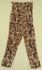 DANGERFIELD animal print PANTS  high rise  baggy fit  NEW! ~ Women sz 10