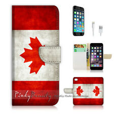 ( For iPhone 6 / 6S ) Wallet Case Cover! Canada Flag P0009