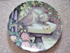 Coalport England porcelain Garden Visitors BIRDS collection plate,Sunbathing