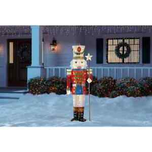 5.5 Ft Tall Christmas Sculpture Nutcracker Soldier LED Holiday Yard Decoration