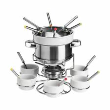 Fondue Set, Serves 6, Stainless Steel/Porcelain