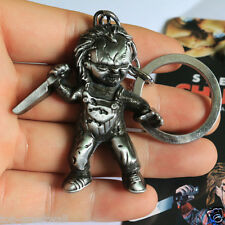 New Child's Play Chucky Silver Metal Keyring Keychain