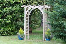 Zest 4 Leisure Horizon Wooden Garden Arch Pergola Plant Support Trellis FSC Wood