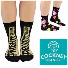 Cockney Spaniel Presecco Please and Gin O Clock Ladies Socks Novelty Gift Idea