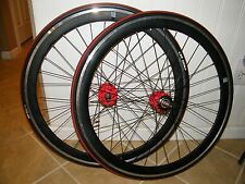 "(2) 26"" TOTO CYCLING WHEEL, BLACK MSW, FRONT & REAR, NOVATEC HUB, CST COMP TIRE"