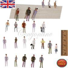 100 PCS 00 Gauge Model Railway Painted Train Street Figures / People Scale 1:75