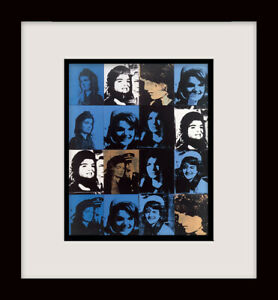 ANDY WARHOL • Sixteen Jackies • Custom Framed Original Book Plate Print