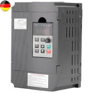 220V Einphasig Frequenzumrichter VFD 1.5KW 3-phase AC Motor Drehzahlregler DE