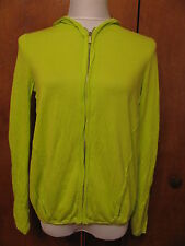 Magaschoni women's  green cotton zippered cardigan Xsmall New