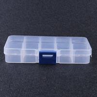 3Pcs 10 Compartment Small Organizer Storage Plastic Box Craft Bead Nail Fuse NEW