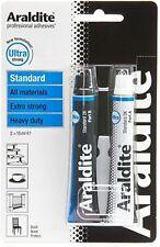 Araldite STANDARD Epoxy 2 Part Heavy Duty Extra Strong Adhesive Glue 15ml TUBES