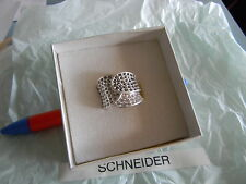 Premier Designs SPARKLE PLENTY silver crystal ring sz 6 RV $49 free ship new