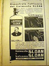 PUBBLICITA' ADVERTISING WERBUNG 1955 LINIMENTO BALSAMO SLOAN (E269)