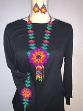 Mexican Huichol Handmade necklace, bracelet and earrings set Purple Morado
