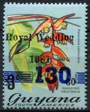 1981 Royal Wedding Charles & Diana MNH Stamp Set Guyana oblit bars 130 opt