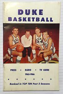 1965-66  DUKE BASKETBALL COLLEGE SOUVENIR PROGRAM BOOKLET