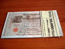 17 Stück Eintausend Mark 1000 Mark 1910 fortlaufende Nummern
