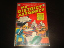 MR DISTRICT ATTORNEY #27  Golden Age Pre-Code Crime  DC Comics 1952 FN+