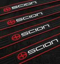 4PCS SCION Black Rubber Car Door Scuff Sill Cover Panel Step Protector For Scion