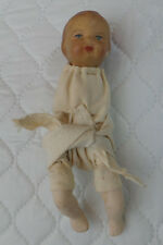 Antique Tiny Bisque & Composition Baby Bundle Doll Marked 6003 ?