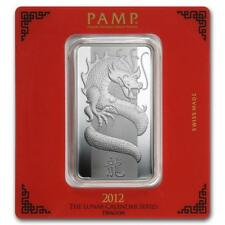 100 gram Silver Bar - PAMP Suisse (Year of the Dragon) #PAPPS22192 Lot 20161308