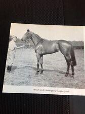 L1-3 Ephemera 1968 Small Picture Horse Racing Mrs T A H Beddington London Star