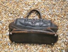 Antique Vintage COWHIDE LEATHER DOCTORS GLADSTONE TYPE BAG