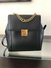❤️NWT Authentic $398 MICHAEL KORS MINDY Medium Black Leather Backpack Gold-tone