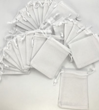 Lot of 28 White square Jewelry Bags 3.5x2.5