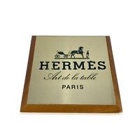 Authentic Hermes Vintage Art de la Table Wood Shelf Talker Square Plate