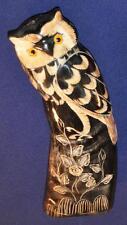 Eule Eulen Uhu aus Büffelhorn, liebevolle Handarbeit, 2 - 22 cm, Handyanhänger