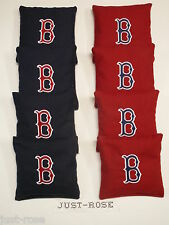 BOSTON RED SOX B Cornhole ACA REGULATION Bean Corn Toss Bags EMBROIDERED