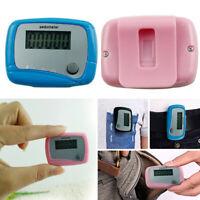 LCD Digital Step Pedometer Walking Calorie Counter Distance Run Belt Clip Nett