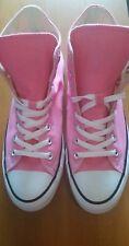 Converse Hi Top All Star Chuck Taylor Pink White Shoes Men's 9 Women 11. NWOT
