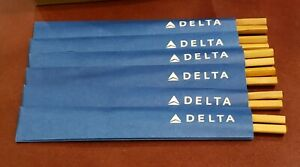 Alessi for Delta Airlines set of 6 Japanese Chopsticks twisted bamboo  044208030