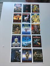 More details for iron maiden trading cards set of 15 album covers group photo double sided