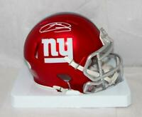 Odell Beckham Autographed New York Giants BLAZE Mini Helmet- JSA Auth *White