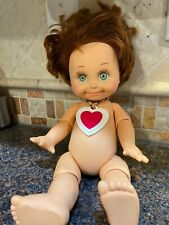 Galoob Baby Face Doll So Shy Sherri with Red Hair 1990 No Clothes