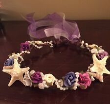XO Bouquets Wedding  Mermaid Seashell Crown Tiara Headband Grapevine