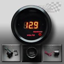 LED digital volt gauge interior custom dash panel pod 52mm 12v