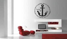 Wall Vinyl Sticker Room Decal Mural Decor Sea Anchor Quote Rope Hope Art bo2159