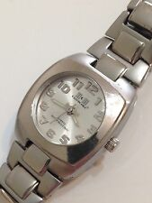 Calvin Hill Designer Ladies Silver Tone Excellent Condition Working Quartz Watch