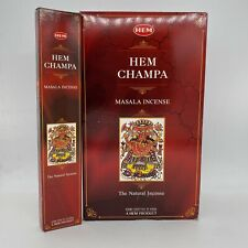 HEM CHAMPA NATURAL MASALA INCENSE STICKS 15 grams NEW IMPORTED FROM INDIA
