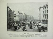 1896 VICTORIAN LONDON PRINT + TEXT ~ REGENT STREET