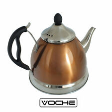 VOCHE COPPER 1.5L STAINLESS STEEL TEA POT WITH REMOVEABLE INFUSER NON DRIP SPOUT