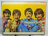 THE BEATLES SGT. PEPPER Vintage ART Handmade vintage sign