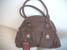 Big Buddha Brown Polyurethane Handbag